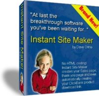 Thumbnail INSTANT SITE WEB PAGE MAKER HTML BUILDER MADE EASY SOFTWARE