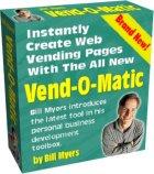 Product picture VEND-O-MATIC BUILD PROFIT GENERATING VENDING WEB PAGES